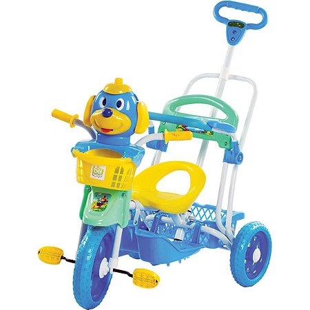 Veiculo Para Bebe Triciclo C/capota 3Em1 Azul Belfix