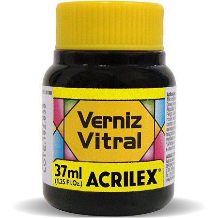 Verniz Vitral Amarelo Ouro 37Ml. Acrilex