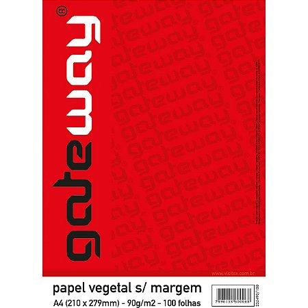 Papel Vegetal Gateway A-3 63G.s/margem Visitex