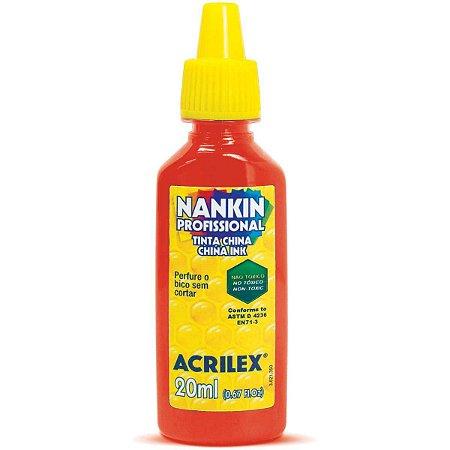 Tinta Nanquim Vermelho Fogo 20Ml. Acrilex