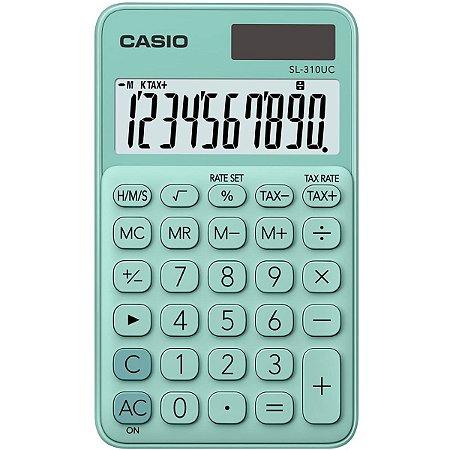 Calculadora De Mesa 10Dig.verde Solar/bat.fun.h/tx Casio