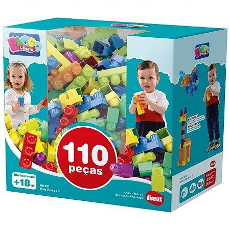 Brinquedo Para Montar Mais Blocos 2 Dismat