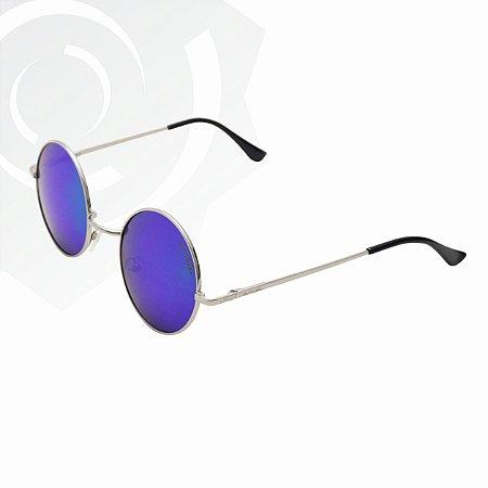 Óculos De Sol Peace Prata Verde Di Fiori 24612