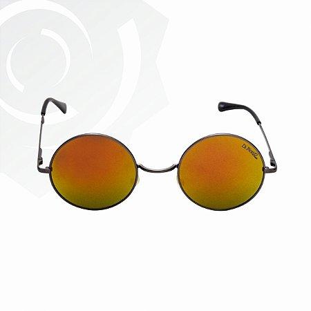Óculos De Sol Peace Grafite Vermelho Di Fiori 24606