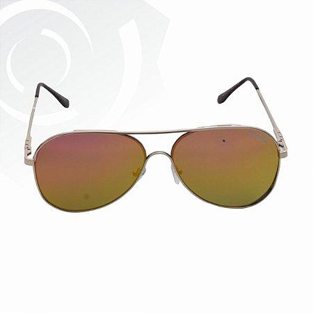 Óculos De Sol Diference Dourado Di Fiori 22117