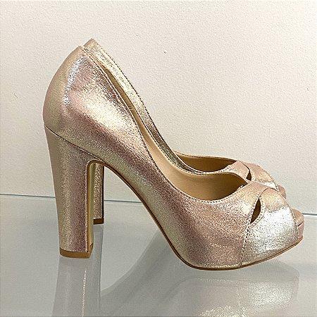 Peep toe rose gold
