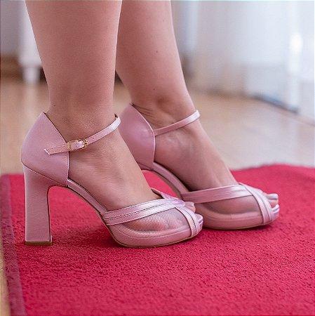 Sandália rose