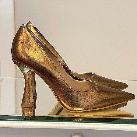 Scarpin Bronze