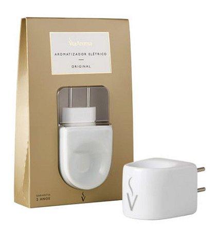 Aromatizador Elétrico Porcelana Branca - Via Aroma (Bivolt)