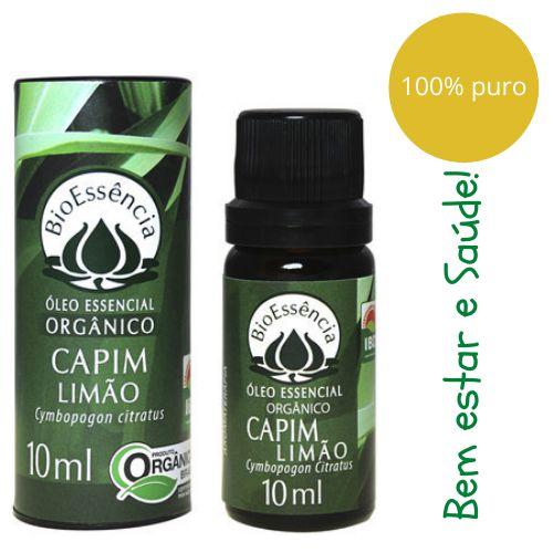 Óleo Essencial Bioessência Orgânico - CAPIM LIMÃO (Cymbopogon flexuosus) - 10 ml