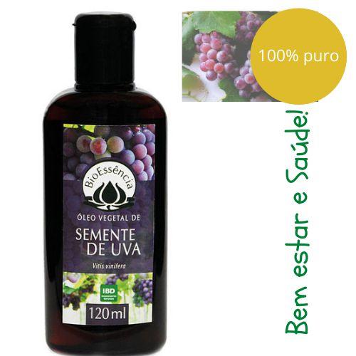 Óleo Vegetal - SEMENTE DE UVA (Vitis vinifera)  - 120 ml