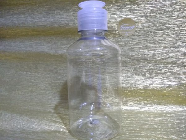 Frasco Pet Ind Set Cristal - Flip top - 250ml