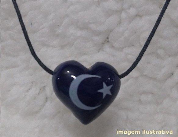 Aromatizador Pessoal Coleção Islamismo - Símbolo Sagrado LUA E ESTRELA - Modelo CORAÇÃO