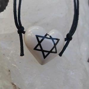 Aromatizador Pessoal Coleção Judaísmo - Símbolo Sagrado ESTRELA DE DAVI - Modelo CORAÇÃO
