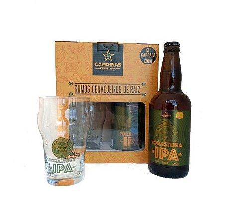 Kit de Cerveja Artesanal com 1 American IPA 500ml + 1Copo de Cerveja tipo Pint