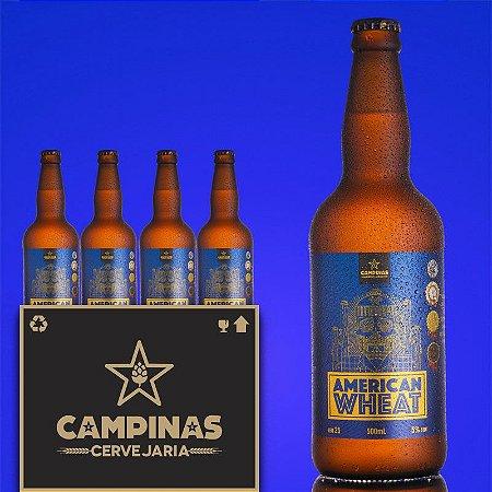 Caixa Fechada com 12 unid. da CAMPINAS American Wheat - 500ml