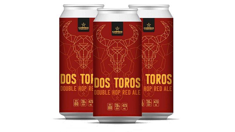 [PROMOÇÃO] Kit Cerveja Artesanal - 3 CAMPINAS Dos Toros Double HOP Red Ale - 473ml