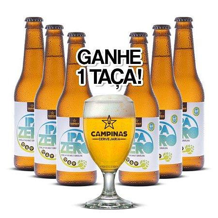 Kit Cerveja Artesanal 6 Pack da CAMPINAS IPA Zero - 355ml - Sem Álcool [GANHE UMA TAÇA!]