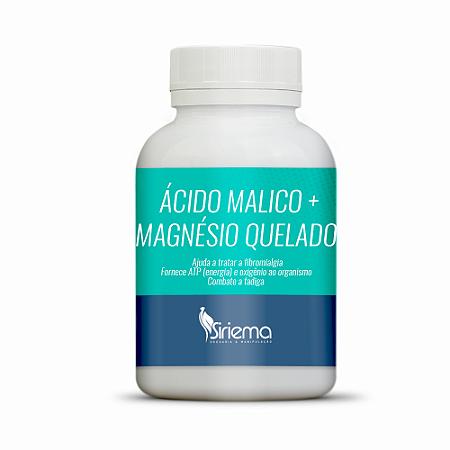 Ácido Málico 400mg + Magnésio Quelado 180mg 180 caps