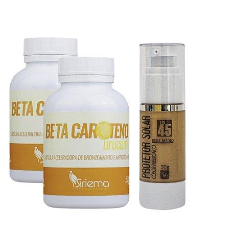 Kit Betacaroteno 2 UN + Filtro solar Color Prebiótico 1 UN