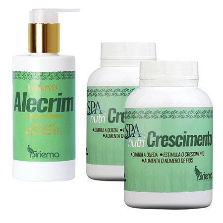 Kit Shampoo de Alecrim + Cápsula p/ crescimento capilar 2 UN