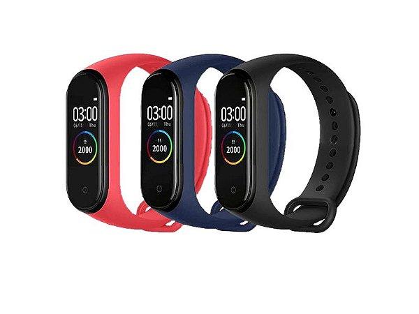 Relógio Pulseira Inteligente M4 Smartband Batimentos Cardíacos Bluetooth
