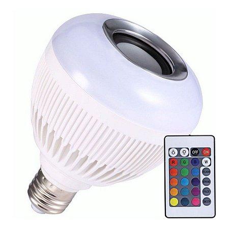 Lâmpada de rosca Musical Bluetooth com iluminação de Balada e Controle Remoto
