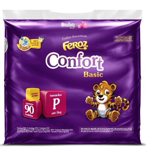 Fralda Infantil Confort Basic Feroz Jumbo