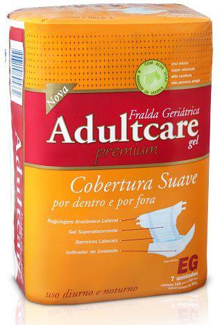 Fralda Geriátrica Adultcare Noturna E.Grande fardo c/ 42