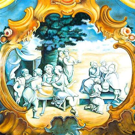"""DEMOGOLET """"Abraão regala aos três anjos e estes lhe predizem o nascimento de Isac"""" 100 x 100 (AST)"""