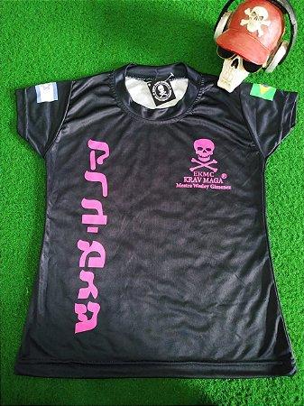 Camiseta DRYFIT Infantil Caveira Rosa