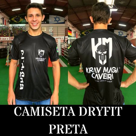 Camiseta DRYFIT Preta NOVO MODELO