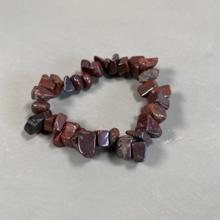 Pulseira de cascalhos de pedra ágata marrom.