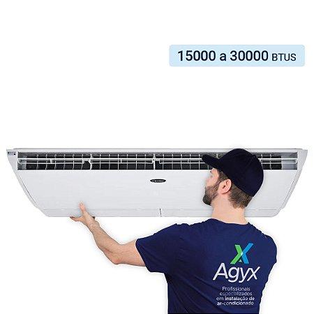 Instalação Ar-Condicionado Split Piso Teto 15000 a 30000 Btus - Só Frio/ Quente e Frio/ Inverter