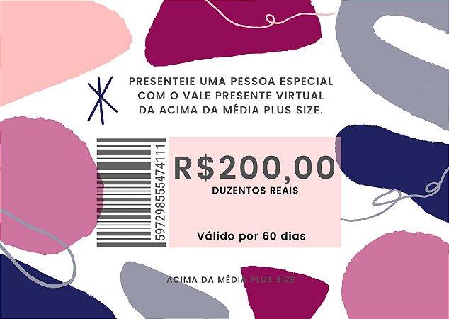 Vale Presente de R$200