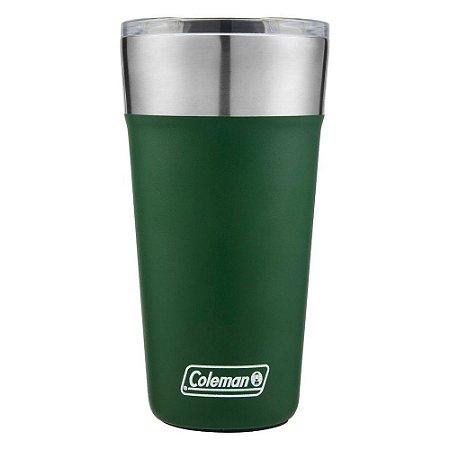 Copo Térmico De Cerveja Com Tampa E Abridor Verde 591 Ml - Coleman