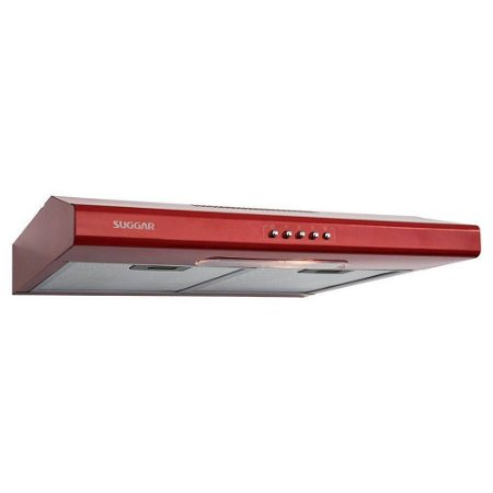 Depurador E Exaustor De Ar Slim 60 Cm Vermelho Di61Vm - Suggar 127V