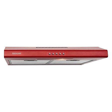 Depurador E Exaustor De Ar Slim 60 Cm Vermelho Di62Vm - Suggar 220V