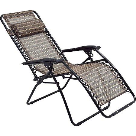 Cadeira Sevilha Reclinável Marrom - Mor