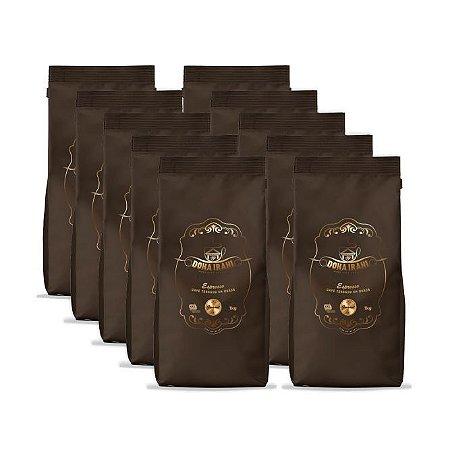 Promoção 10 kgs - Café Dona Irani Superior torrado em grãos 1000g