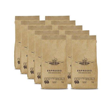 Promoção 10 kgs - Café Dona Irani Nobre torrado em grãos 1000g - Gourmet