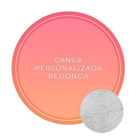Canga de Praia Personalizada Dupla Face Redonda sem pompom - Tecido 100% Viscose