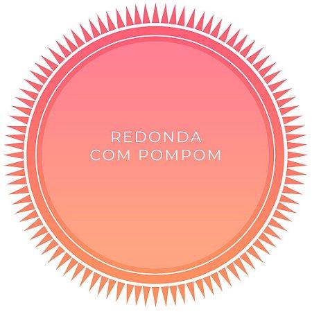 Canga de Praia Personalizada Redonda com pompom