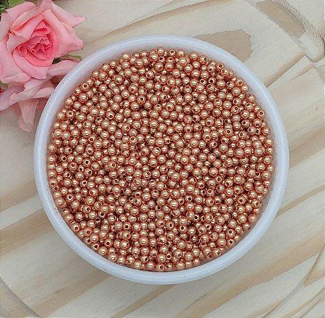 Pérola Colorida - Caramelo - 4mm - Pacote 20 gramas