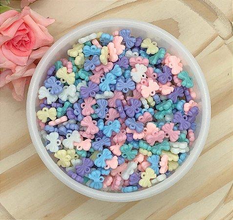 Pingente Acrílico Candy Colors - Lacinho - Pacote 20 gramas