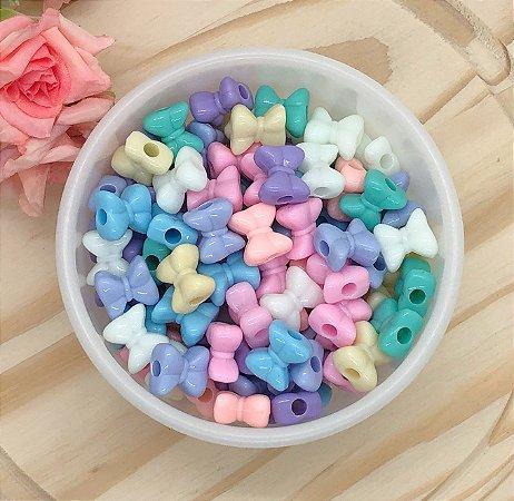 Miçanga Lacinho Simples Candy Colors - Pacote 30 gramas