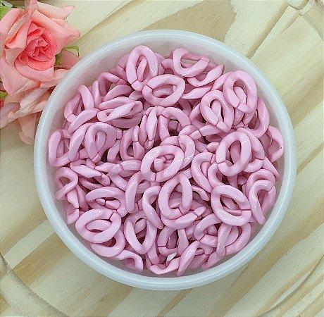 Elos Acrílicos - Rosa Claro - Pacote 30 gramas