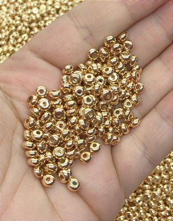 Miçangão 3.6mm - Dourado - 20 gramas
