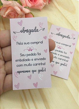 Cartão de Agradecimento - 10 unidades