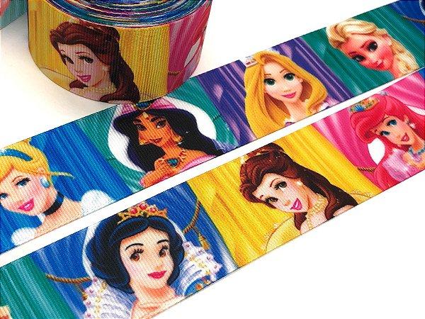 Fita de Gorgurão Estampada - Princesas Disney - Sakura - 38mm